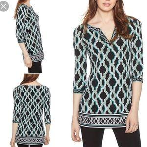 White House Black Market 3/4 sleeve tunic size L